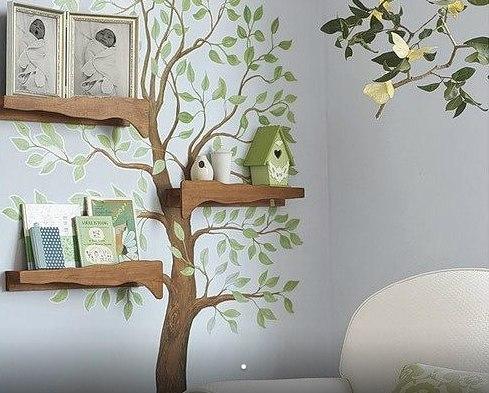 Декор дерево на стене своими руками