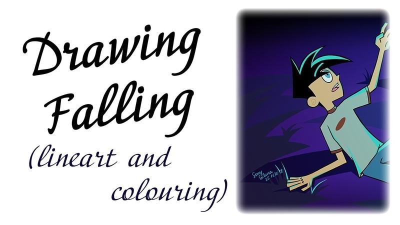 Рисую падение Фантома (Дэнни-призрак; Photoshop CS5, ускорено в 41 раз)