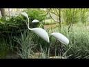 Птицы из пластиковых труб ПВХ своими руками. Поделки для дачи и сада