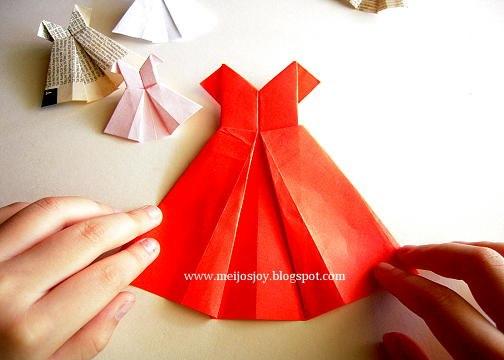 Метки: платье оригами