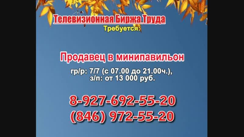 21 ноября _07.20, 23.50_Работа в Самаре_Телевизионная Биржа Труда