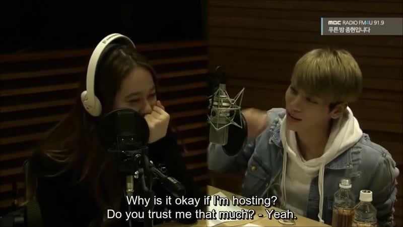 [ENG] 151112 f(x) Krystal on Jonghyun's Blue Night Radio