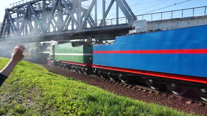 Паровозы в Москве 9 мая 2018 - поезд Победы