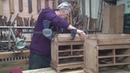 共十集(6)中国传统木工【木工教学】六旬木匠纯手工制作全榫卯的管3038