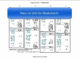 haru no umi 001 - Первая часть из пяти - пояснения к нотной записи