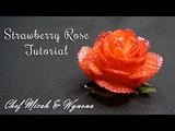 How to make a Strawberry Rose - Valentine's Day 2018 Rose Tutorial with Chef Micah