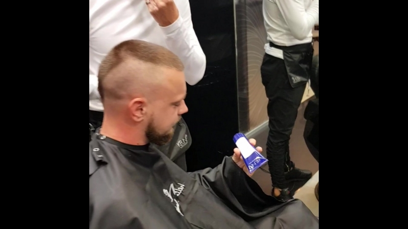 Мужская стрижка оформление бороды барбер Андрей Ефимов Дали.mp4