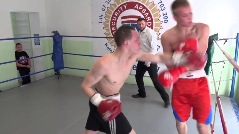 Andrejs Potašovs (Latvia) VS Janis Pukšins (Latvia) (Knock Out) 01.04.2014 proboxing.eu