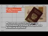Мы начинаем сбор подписей за кандидата в мэры Хабаровска Алексея Ворсина!