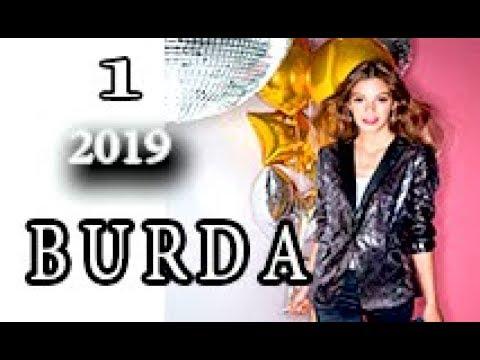Burda №1, 2019. Журнал по шитью. Полный обзор с техрисунками