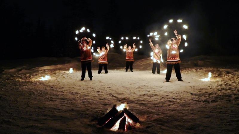 Театр огня и света Та-Моко г. Ноябрьск - Ямальские шаманы (Полная версия)