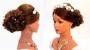 Прическа на выпускной или на свадьбу. Wedding prom hairstyle