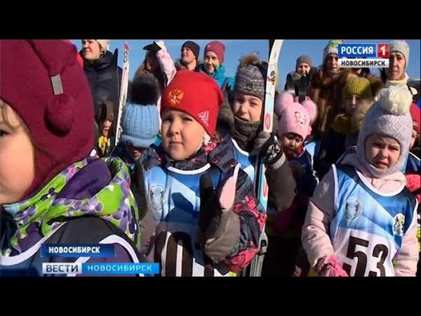 Лыжный забег для дошколят организовали в Новосибирске