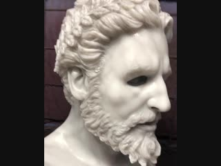 Силиконовая маска имитация мрамора
