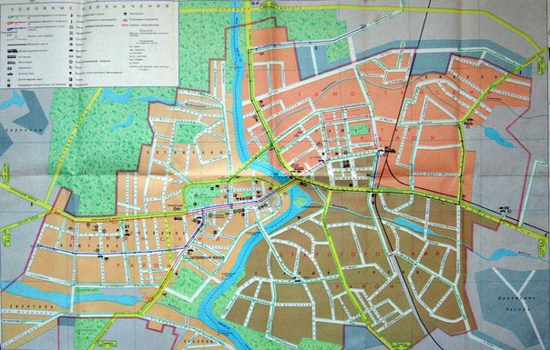 Схема городского транспорта.