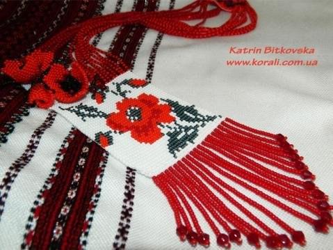 Схема плетения мака ручным или