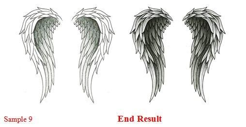 как рисовать крылья карандашом: