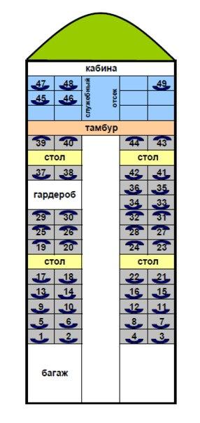 Поезд 101я схема мест
