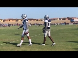 Chris Richard with some tips for AB #CowboysCamp Day 13