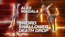 Sword Swallower Alex Magala Performs Scary Death Drop - America's Got Talent: The Champions