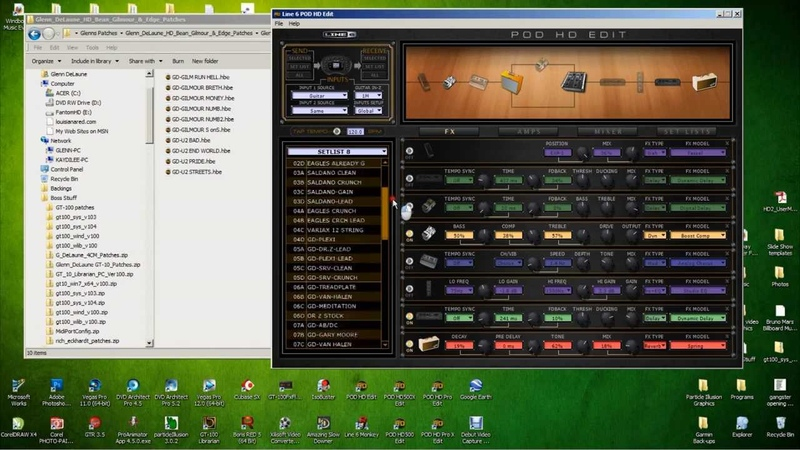 Downloading Syncing Patches for All Line6 POD HD Series Modelers Glenn DeLaue Tutorial