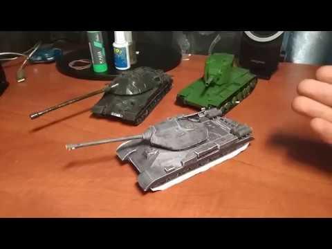 Моделирование танк ИС 4 из бумаги Часть 3