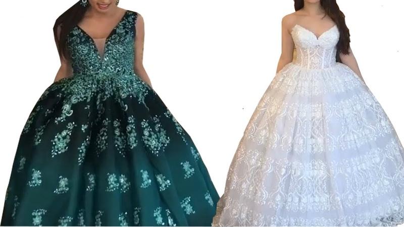 КРАСИВЫЕ ВЕЧЕРНИЕ ДЛИННЫЕ МОДНЫЕ ПЛАТЬЯ 👗Свадебные и платья на выпускной 2 платья одежда мода