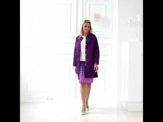 Двустороннее пальто (фиолетовый - белый)