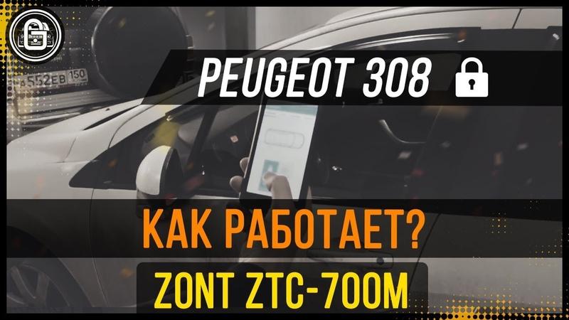 Установка Zont ZTC 700 на Peugeot 308