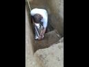 Археологические раскопки на месте стоянки древнего человека