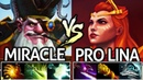 Miracle- [Sniper] VS Pro Lina | Ak-47 VS Machine Gun 7.19 Dota 2