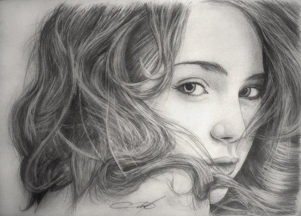 Девушка с сигаретой рисунок
