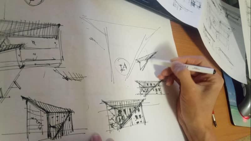 Эскиз проекта творческой школы в городе Элиста (респ. Калмыкия)
