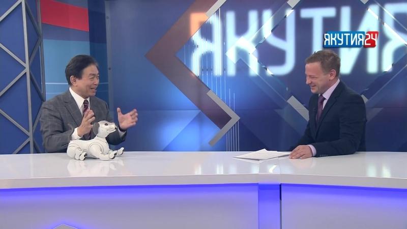 Зрители телеканала «Якутия 24» первыми увидели японского робота-щенка Aibo. Его стоимость составляет порядка $2000. Собаку-робот