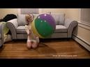Deflate beach ball