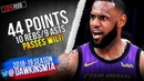 LeBron James 44 Pts Move Him Past Wilt To 5th All-Time in Scoring! | ESPN Feed | FreeDawkins