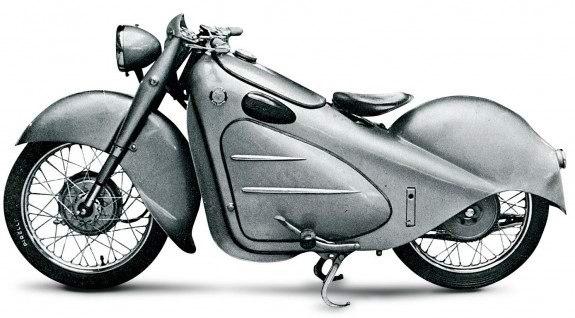 Итальянский конкурент – Miller-Balsamo. На снимке – уже послевоенная (1947 год) 250-кубовая модель Jupiter.