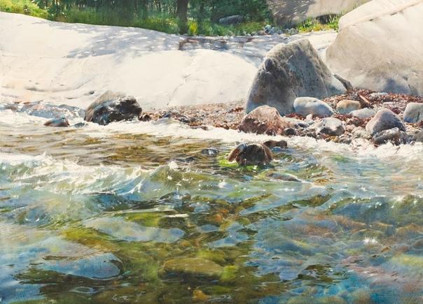 Гиперреализм от Станислава Золадза Stanislaw Zoladz польский художник, который выбрал для себя лишь одну тему творчества водную стихию, но сумел максимально проявить свой талант. Кропотливая
