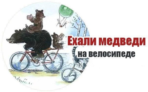 анимация ехали медведи на велосипеде также: нащупала