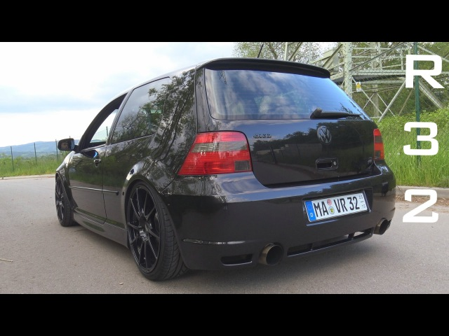 VW GOLF 4 R32 STRAIGHT PIPE - ACCELERATION SOUND ONBOARD AUTOBAHN 0-200 KMH