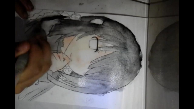 Speed drawing (watercolor) Kurumi Tokisaki from date a live