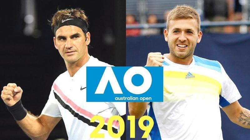 Roger Federer vs Daniel Evans Australian Open 2019 Highlights