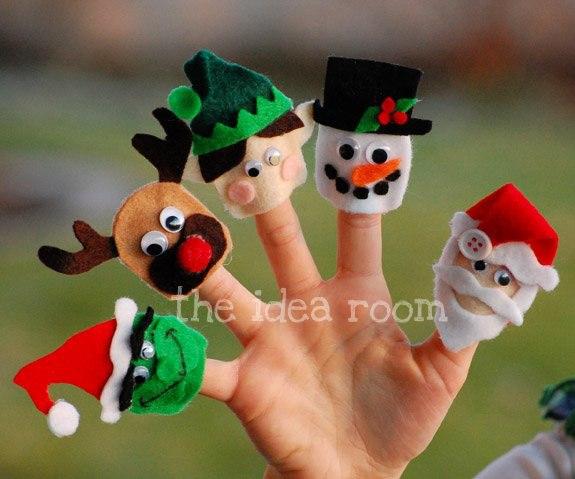 Новогодние пальчиковые куклы из фетра