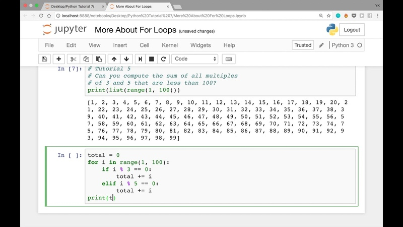 More About For Loops in Python Solutions to the Last 2 Problems (Python Tutorial 7)