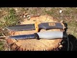Bear Grylls Ultimate survival knife/Mora Robust, comparaison.