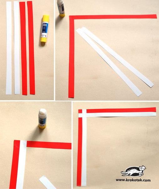 Закладка плетение из бумаги своими руками