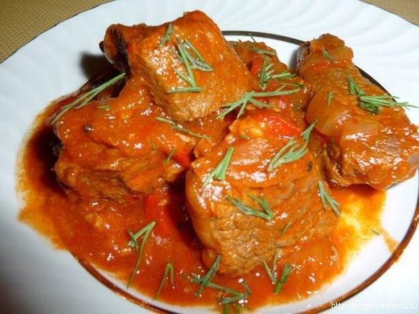 Тушеная говядина крупными кусками рецепт