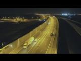Грузовики едут по Крымскому мосту