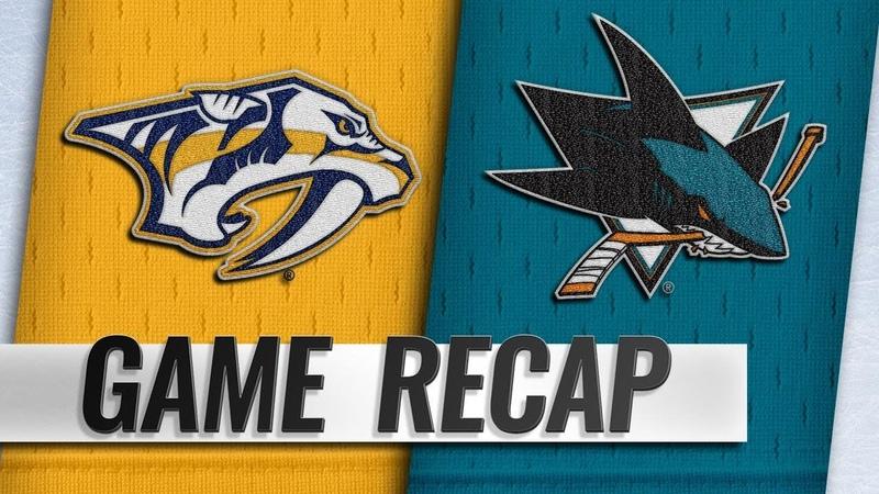 Thornton scores 400th NHL goal, Sharks edge Predators