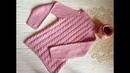 Розовый свитер для девочки Подробное описание ВЯЗАНИЕ KNITTING Jacket for girl